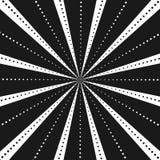 Abstract comic book flash explosion radial lines background. Vector illustration for superhero design. Black white light strip bur. St. Flash ray blast glow Stock Photo