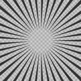 Abstract comic book flash explosion radial lines background.. Vector illustration for superhero design. Bright black white light strip burst. Flash ray blast Royalty Free Stock Image
