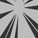 Abstract comic book flash explosion radial lines background. Vector illustration for superhero design. Bright black white light st Stock Image