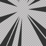 Abstract comic book flash explosion radial lines background. Vector illustration for superhero design. Bright black white light st. Rip burst. Flash ray blast Stock Image