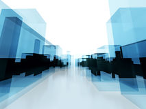 Abstract commecial building office background. 3d illustration