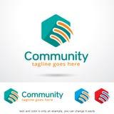 Abstract Communautair Logo Template Design Vector Royalty-vrije Stock Afbeeldingen