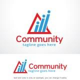 Abstract Communautair Logo Template Design Vector, Embleem, Ontwerpconcept, Creatief Symbool, Pictogram Royalty-vrije Stock Foto