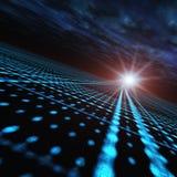 Abstract Communications Horizon. Matrix Grid