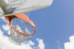 Abstract of Community Basketball Hoop and Net Royalty Free Stock Photography