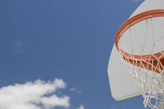 Abstract of Community Basketball Hoop and Net Stock Photo