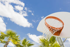 Abstract of Community Basketball Hoop and Net Royalty Free Stock Images
