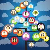Abstract community tree Royalty Free Stock Photo