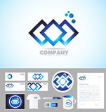 Abstract company corporate identity template logo Stock Image