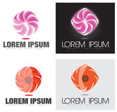 Abstract Company Glowing Swirl or Flower Logo Stock Photo