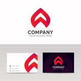 Abstract company icon sign with brand business card vector desig Stock Photos