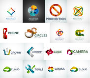 Abstract company logo collection Stock Image