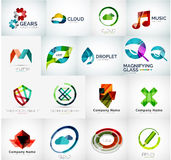 Abstract company logo collection. Abstract company logo vector collection - large set of business corporate logotypes Stock Images