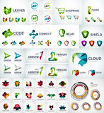 Abstract company logo collection. Abstract company logo vector collection - large set of business corporate logotypes Royalty Free Stock Photo