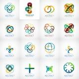Abstract company logo collection Stock Photo