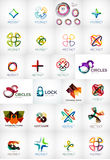 Abstract company logo collection Royalty Free Stock Photos