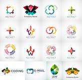 Abstract company logo collection. Abstract company logo vector collection - large set of business corporate logotypes Stock Image