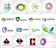 Abstract company logo collection Stock Photo