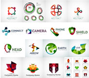 Abstract company logo collection Stock Photos