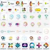 Abstract company logo vector collection. Large set of business corporate logotypes Stock Photos