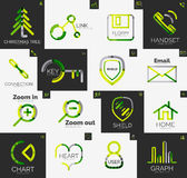 Abstract company logo vector collection Royalty Free Stock Photography