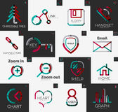 Abstract company logo vector collection Royalty Free Stock Image