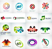 Abstract company logo vector collection. 16 modern various business corporate logotypes Stock Images
