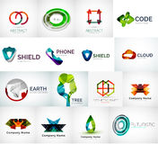 Abstract company logo vector collection. Modern various business corporate logotypes Stock Photography