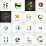 Abstract company logo vector collection. 16 modern various business corporate web logotypes Royalty Free Stock Photo