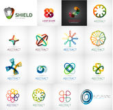 Abstract company logo vector collection. 16 modern various business corporate web logotypes Royalty Free Stock Photos