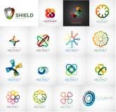 Abstract company logo vector collection Royalty Free Stock Photos