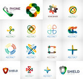 Abstract company logo vector collection. 16 modern various business corporate web logotypes Royalty Free Stock Images