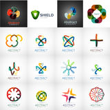 Abstract company logo vector collection. 16 modern various business corporate web logotypes Stock Photography