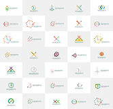 Abstract company logo vector collection. Set of Royalty Free Stock Photo