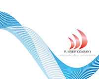 Abstract company page. With label and perspective Royalty Free Stock Images
