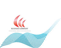 Abstract company page. With label and perspective Stock Photos
