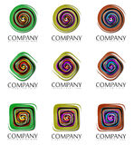Abstract company signs Stock Images