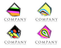Abstract company signs Stock Image