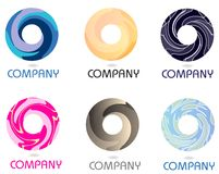 Abstract Company Swirling Circle Logo. Template that can be used for various industries like advertising, media, communications, internet Royalty Free Stock Photography