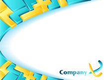 Abstract company template. Company business template with puzzle design and sample text Stock Photography
