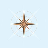Abstract compass design stock illustration