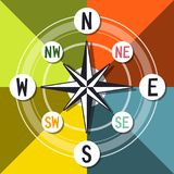 Compass Vector Colorful Design. Abstract Compass Vector Colorful Design Royalty Free Stock Photo
