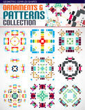 Abstract complex geometric patterns set Stock Photo