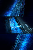 Abstract complex technology concept set Stock Photo