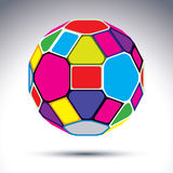 Abstract complicated 3d ball with kaleidoscope effect. Bright sp Stock Photo