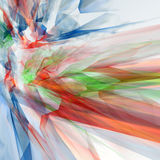 Abstract composition. 3d abstract composition over a white background Royalty Free Stock Photography
