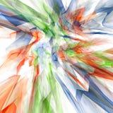 Abstract composition. 3d abstract composition over a white background Royalty Free Stock Photos