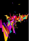 Abstract composition. Background from colour triangles and squares royalty free illustration
