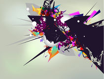 Abstract composition. With 3d elements vector illustration