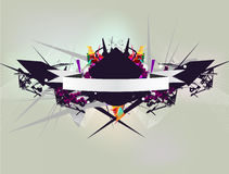 Abstract composition. With 3d elements stock illustration